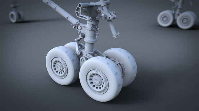 Bristol Britannia Landing Gear Clay model for 3d printing