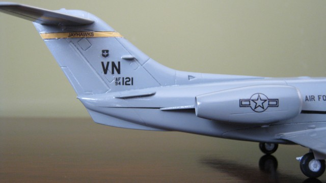 Detail back of a 1:72 scale T-1A Jayhawk. A model for 3D printing