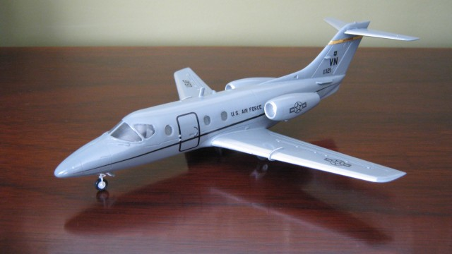 A painted 1:72 scale T-1A Jayhawk. A model for 3D printing